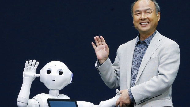 Pepper with Softbank President Masayoshi Son in 2014