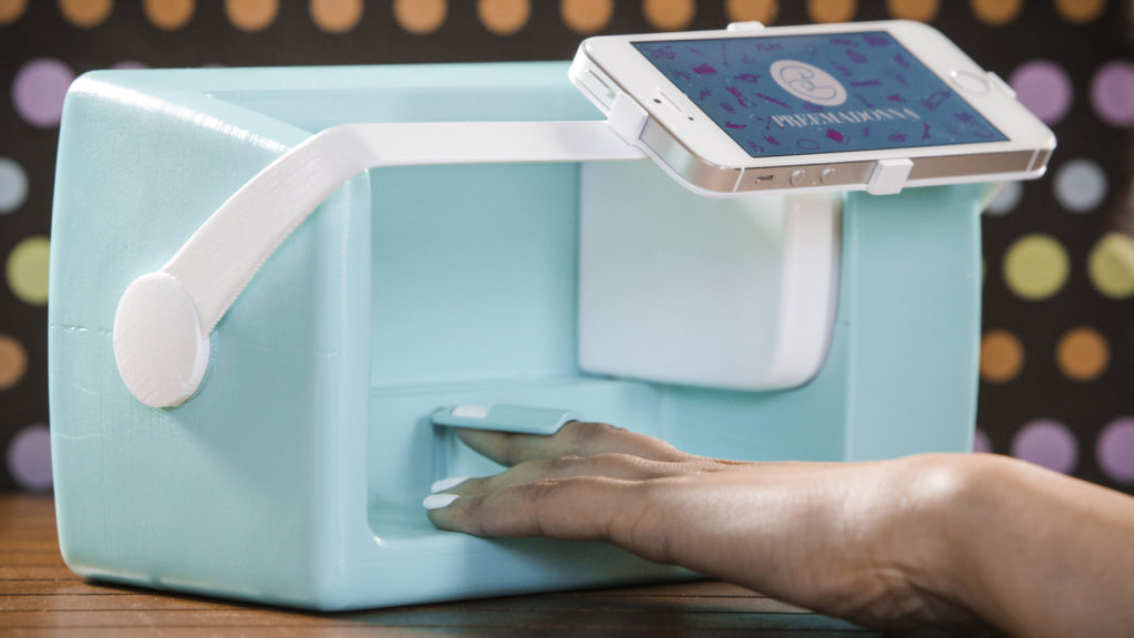 The co-founder of Preemadonna, maker of the Nailbot, hopes the nail-art printing device will help attract girls to tech